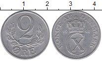 Изображение Монеты Дания 2 эре 1944 Алюминий XF