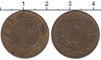 Изображение Монеты Дания 1 скиллинг 1863 Медь VF