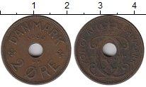 Изображение Монеты Дания 2 эре 1938 Медь VF+