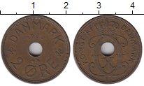 Изображение Монеты Дания 2 эре 1939 Медь XF-
