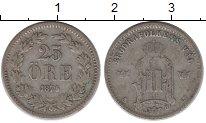 Изображение Монеты Швеция 25 эре 1875 Серебро VF-