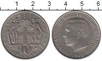 Изображение Монеты Греция 10 драхм 1968 Медно-никель XF