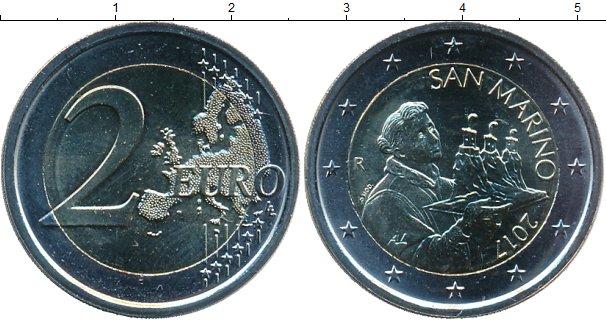 Картинка Мелочь Сан-Марино 2 евро Биметалл 2017
