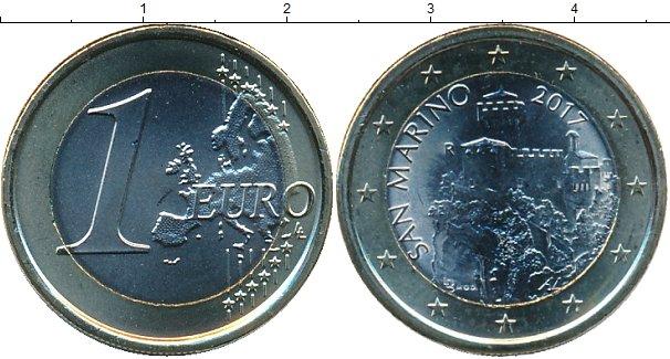 Картинка Мелочь Сан-Марино 1 евро Биметалл 2017