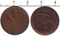 Изображение Монеты Турция 10 куруш 1971 Бронза UNC-