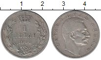 Изображение Монеты Сербия 1 динар 1904 Серебро XF