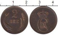 Изображение Монеты Дания 2 эре 1874 Бронза XF