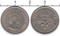 Изображение Монеты Маврикий 1/4 рупии 1965 Медно-никель XF