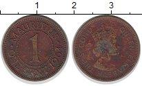 Изображение Монеты Маврикий 1 цент 1964 Бронза VF