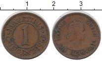 Изображение Монеты Маврикий 1 цент 1963 Бронза XF