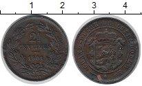 Изображение Монеты Люксембург 2 1/2 сантима 1901 Бронза XF Герб с короной
