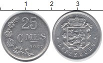 Изображение Монеты Люксембург 25 сантим 1967 Алюминий UNC-