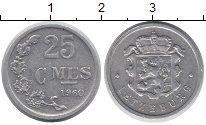 Изображение Монеты Люксембург 25 сантим 1960 Алюминий XF