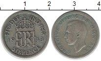 Изображение Монеты Великобритания 6 пенсов 1943 Серебро XF-
