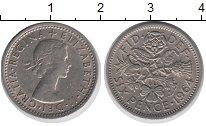 Изображение Монеты Великобритания 6 пенсов 1964 Медно-никель XF Елизавета II