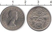 Изображение Монеты Великобритания 6 пенсов 1965 Медно-никель UNC-