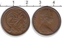 Изображение Монеты Австралия 2 цента 1966 Бронза XF+