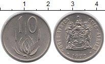 Изображение Монеты ЮАР 10 центов 1972 Медно-никель UNC-