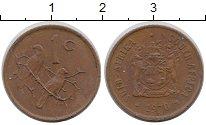 Изображение Монеты ЮАР 1 цент 1970 Бронза XF