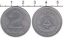 Изображение Монеты ГДР 2 марки 1978 Алюминий XF