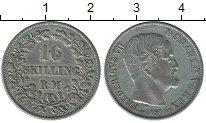 Изображение Монеты Дания 16 скиллингов 1856 Серебро XF