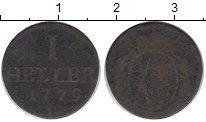 Изображение Монеты Саксония 1 геллер 1779 Медь VF