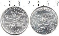 Изображение Монеты Италия 500 лир 1991 Серебро UNC 250 лет со дня смерт