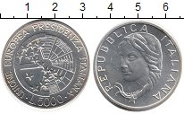 Изображение Монеты Италия 5000 лир 1996 Серебро UNC Президентство Италии