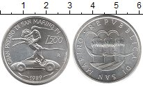 Изображение Монеты Сан-Марино 500 лир 1989 Серебро UNC