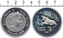 Изображение Монеты Ниуэ 1 доллар 2008 Серебро Proof- Елизавета II. Год бы