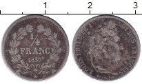 Изображение Монеты Франция 1/4 франка 1839 Серебро XF-