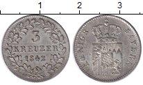 Изображение Монеты Бавария 3 крейцера 1842 Серебро XF+