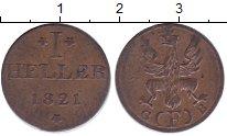 Изображение Монеты Франкфурт 1 геллер 1821 Медь XF