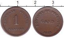 Изображение Монеты Бельгия 1 сантим 1833 Медь XF