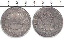 Изображение Монеты Боливия 1 боливиано 1865 Серебро VF
