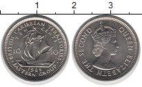 Изображение Монеты Карибы 10 центов 1965 Медно-никель UNC-