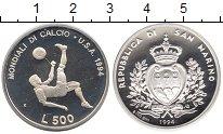 Изображение Монеты Сан-Марино 500 лир 1994 Серебро Proof