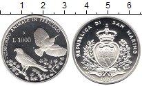 Изображение Монеты Сан-Марино 1000 лир 1993 Серебро Proof