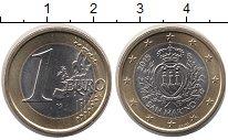 Изображение Мелочь Сан-Марино 1 евро 2015 Биметалл UNC-