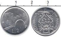 Изображение Монеты Сан-Марино 2 лиры 1987 Алюминий UNC-