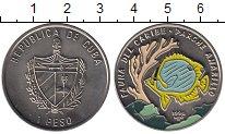 Изображение Монеты Куба 1 песо 1996 Медно-никель UNC Цветная монета. Фаун
