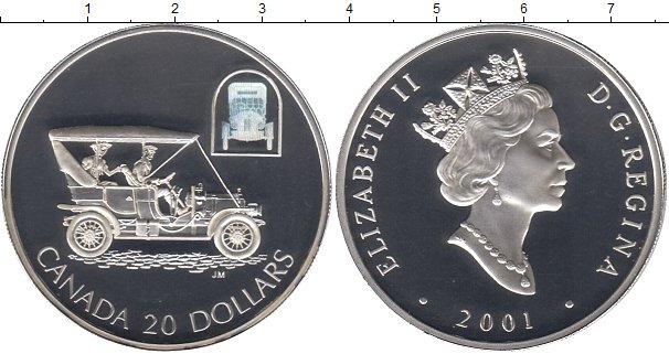 Картинка Монеты Канада 20 долларов Серебро 2001