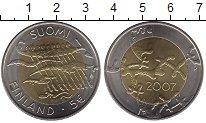 Изображение Монеты Финляндия 5 евро 2007 Биметалл XF Декларация независим