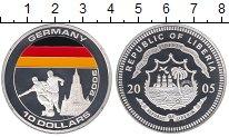 Изображение Монеты Либерия 10 долларов 2005 Посеребрение Proof