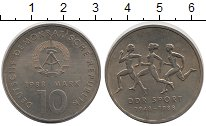 Изображение Монеты ГДР 10 марок 1988 Медно-никель XF Спорт в ГДР