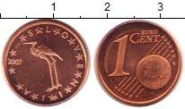 Изображение Монеты Словения 1 евроцент 2007 Бронза UNC-