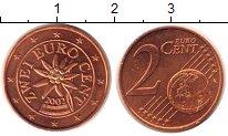 Изображение Монеты Австрия 2 евроцента 2002 Бронза UNC-