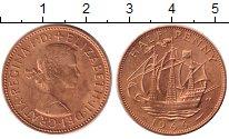Изображение Монеты Великобритания 1/2 пенни 1966 Бронза UNC-
