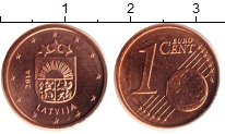 Изображение Монеты Латвия 1 евроцент 2014 Бронза UNC-