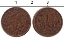 Изображение Монеты Нидерланды 1 цент 1917 Бронза XF